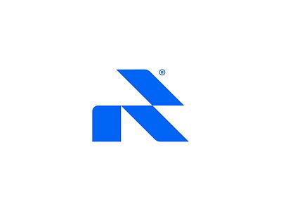 Reckon Logo Mark Concept mockup visual identity graphic design monogram geometric logodesign minimal design branding logo