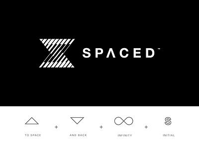SPACEDChallenge white black retro logo logo s spaced spacedchallenge