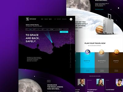 #SpacedChallenge Web design uiux landing page webdesign spacedchallenge