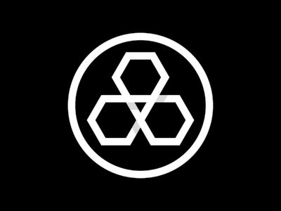 Shinagawa logomark triangle circle black japan logomark optical illusion minimal logi