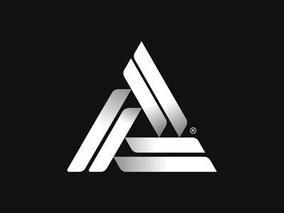 Triangle logo experiment bw white black geometric logo swiss design a logo triangle logo