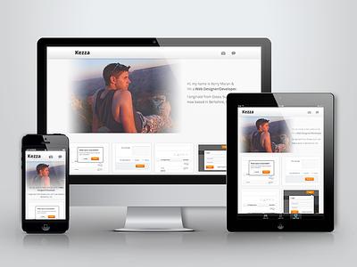 Portfolio Live portfolio responsive website web dribbble shots grand canyon contact twitter