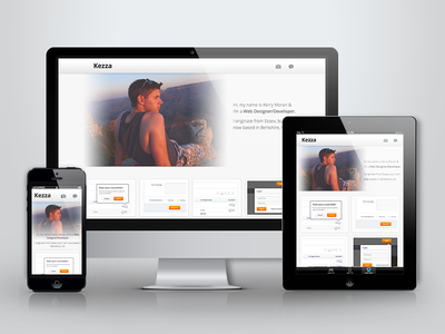 Portfolio Live portfolio responsive website web dribbble shots grand canyon contact twitter