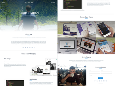 Finally going Freelance web development web design responsive clean white freelancer personal portfolio freelance