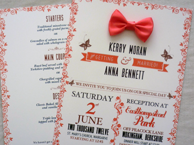 Wedding Invite wedding invitation invite typography coral print