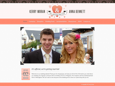Wedding Site is live wedding site wedding texture coral
