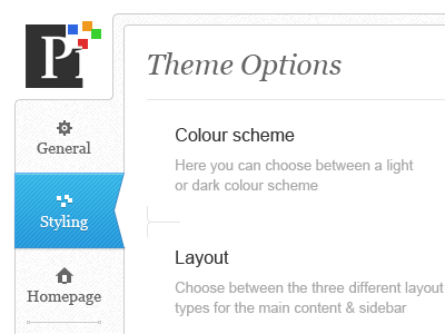 Pixelburst theme options theme options wordpress ui dashbaord
