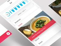 Eat Screen for Running App