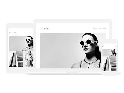 Imatra · Site Composition flat website web photography website photography portfolio photography branding photography interaction design interaction ux ui typography logo minimal identity branding design