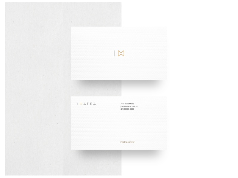 Imatra · Business Card White geometric contemporary elegant black and white urban minimalist design minimalist symbol business card design white business card vector logo typography photography branding photography minimal identity design branding