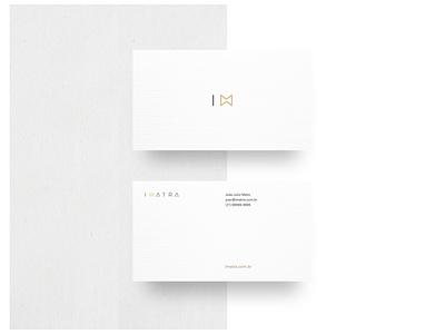 Imatra · Business Card White geometric contemporary elegant black and white urban minimalist design minimalist symbol business card design white business card vector logo typography photography branding photography minimal identity design branding