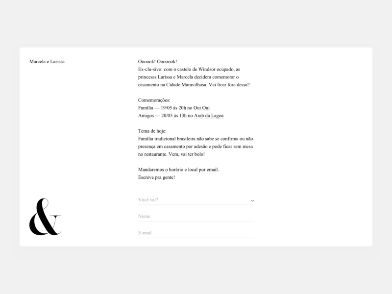 Invitation RSVP ui interaction design interaction typography minimal design