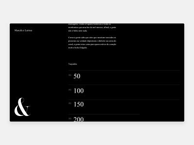 Invitation Gift ui interaction design interaction typography minimal design