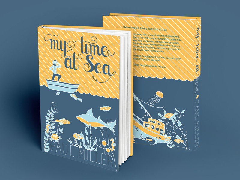 My Time at Sea typography sea book illustration
