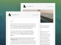 Atomist Email Newsletter