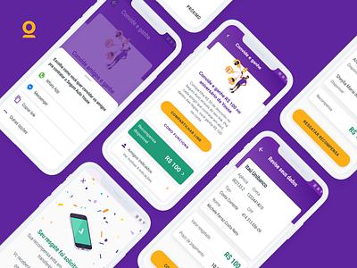 Youse - Indique Amigos e Ganhe components mobile app design mobile design app ui deisgn uiux uidesign ui