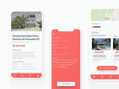 JP Brokers - Internal  screen design app mobile design app design real estate bottom navigation immobile app carrousel contact design