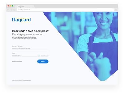 Flagcard - Login system login credit card login screen system card login