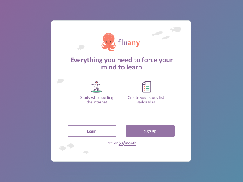 Fluany - Welcome Plugin sing up extension chrome singup login welcome plugin