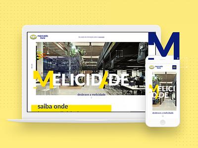 Mercado Livre - Landing Page landing page mercado libre mercado livre ui ux design site home landing ml