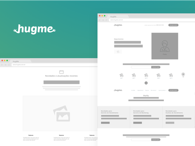 hugme - Landing Page - Wireframe wireframe