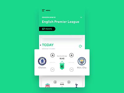 Soccer - Mobile App mobile design mobile app design mobile android ios