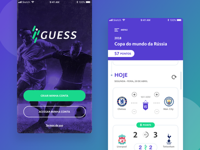 Iguess - Soccer App mobile design app design appdesign ux ui soccer mobile app