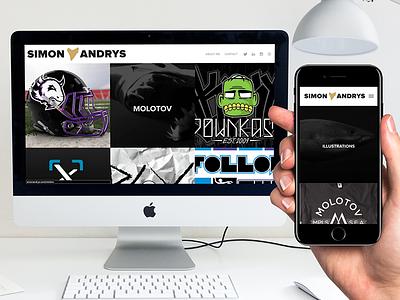 SimonAndrys.com | Portfolio web design mockup shark simon andrys portfolio