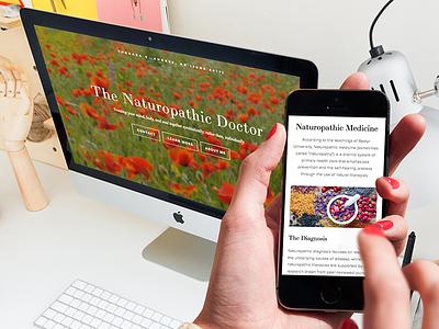 Naturopathic Medicine Website squarespace website design care medicine naturopathic