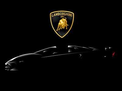 Lamborghini Aventador SV sports car car gradient shadows illustration aventador lamborghini lambo