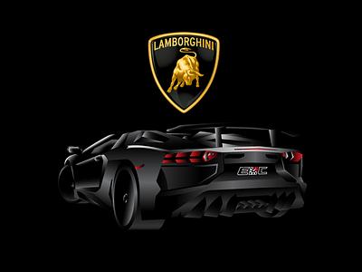 Lamborghini Aventador SV - Final aventador lamborghini lambo illustration gradient
