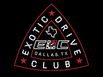 Exotic Drive Club - Tshirt Concept 3 illustration car car club texas