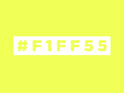 #FIFF55 neon hexcode obnoxious safety yellow safety green neon yellow neon green neon