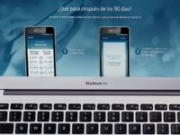 Diseño landing page Test Drive | Movistar Argentina