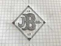 Logo sketch - J Bakes Brewing