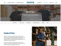 Paris Corporation - About Us Page Redesign
