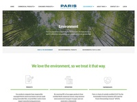 Paris Corporation - Environment Page Redesign