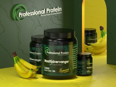 Professional Protein branding 3d mockup design