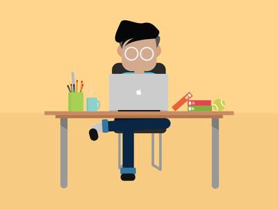Busy Developer Illustration