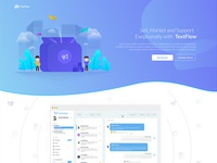 Text App Landing Page