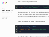 DSGN* post with code snippets