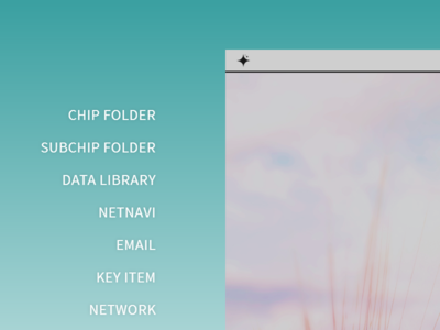 Desktop Side Menu