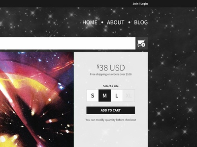 Streamlined Shop Page space awesome apparel ecommerce weöm web design