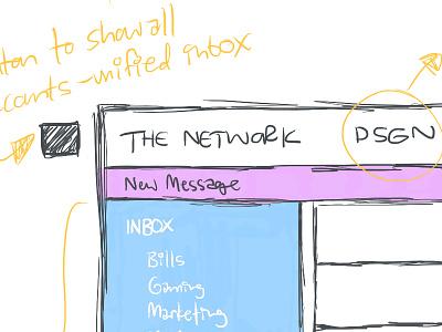 Hermes Email App sketch  pencil apple pencil ipad pro procreate app desktop email hikari os hermes