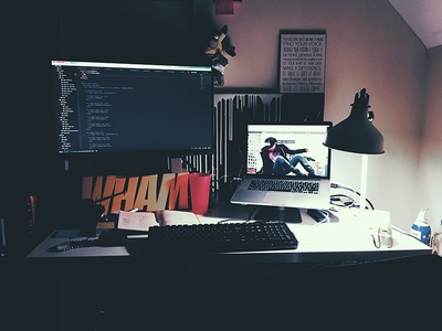 My home computing setup office setup computing home