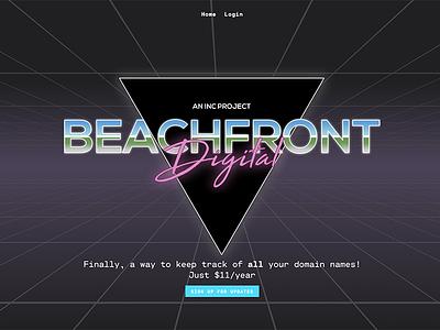 BeachfrontDigital Soft Launch the grid tron vice city neon 80s digital beachfront