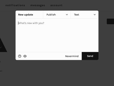 Socii | New Post Editor social network markdown editor socii
