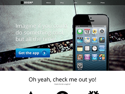 iPhone App Splash Page iphone ios app website 1-page