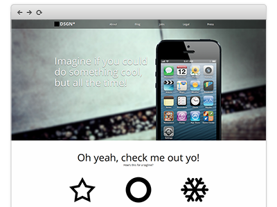 iPhone App Splash Page, Coded website 1 page app ios iphone html css sass