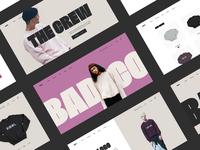 The Crew Ecommerce Site typogaphy website minimal shop web landing page product design cart ecommerce clothing fashion webdesign ui ux sketch
